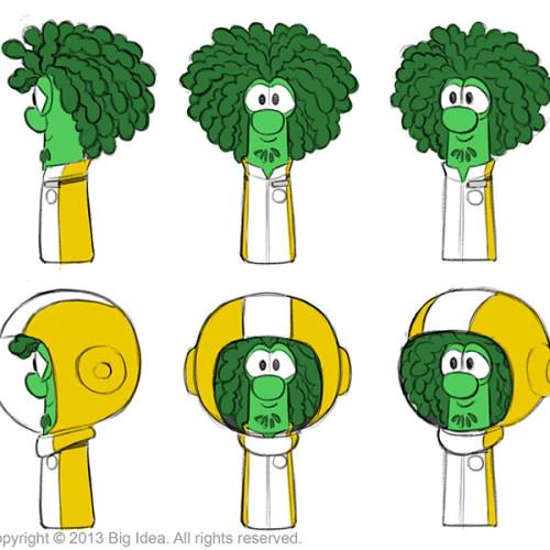 Ziggy Character Design for VeggieTales