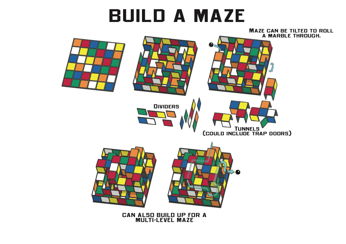 Smiley Rubik's Cube Build-A-Maze Concept